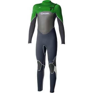 4/3 Axis Wetsuit - Kids' Gunmetal/Black/Bright Green, 10 - Like New