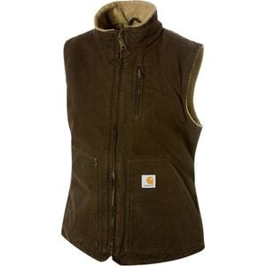 Sandstone Mock-Neck Vest - Women's Dark Brown, M - Good