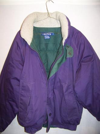 Classic Nautica Down Jacket/Coat, Mens Large