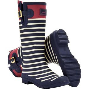 Welly Print Boot - Women's Navy Stripe, US 6.0/UK 4.0 - Excellent