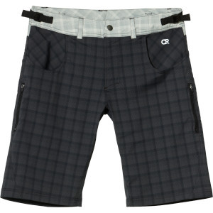 Mountain Surf Shorts - Men's Raven Plaid, M - Like