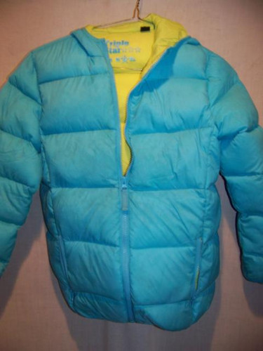 Triple Star Down Puffy Jacket, Girls Large