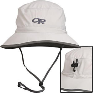 Sun Bucket Hat Sand/Dark Grey, XL - Like New
