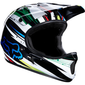Rampage DH Helmet White/Blue, XL - Excellent