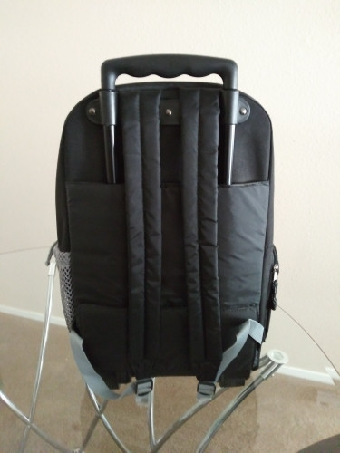 Travel BackPack With Wheels (Black and Gray)