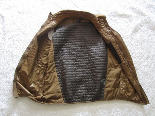Kuhl Spyfire Brown Puffer Full Zip Lightweight Vest Size Large