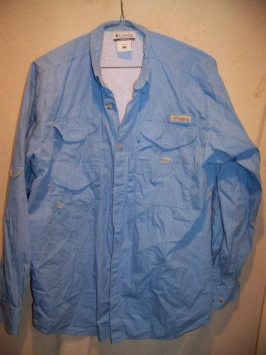 Columbia PFG Fishing Casual Summer Shirt, Mens Medium