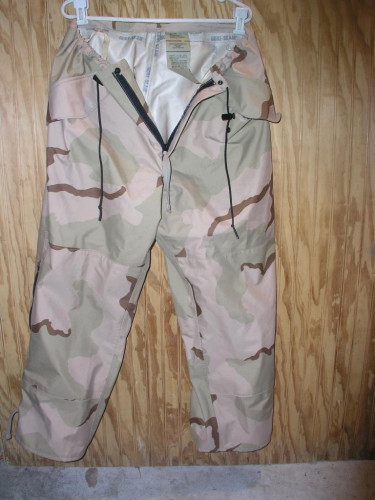 US Military Desert Camo GORETEX Pants Large