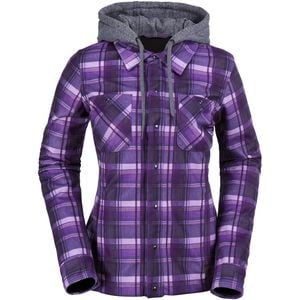 Circle Flannel Jacket - Women's Purple, M - Like New