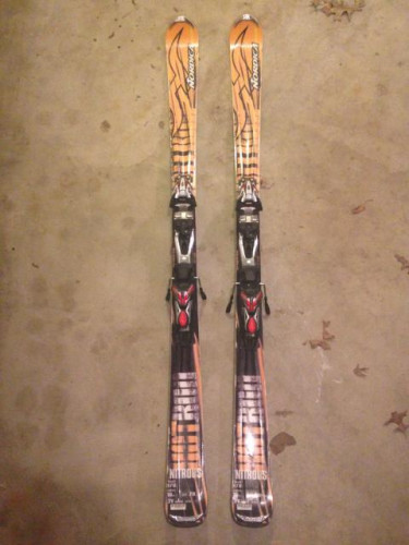 Skis binding and boots
