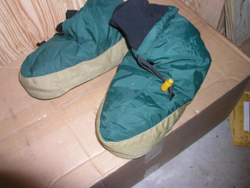 "Eddie Bauer Down Booties Fits feet 12"" and  under"