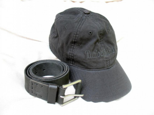 Timberland belt and hat