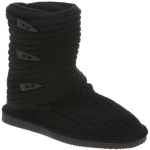 Knit Tall Boot - Girls' Black, 1.0 - Excellent