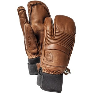 Fall Line 3-Finger Glove Brown, 8 - Excellent
