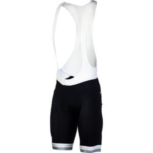 Silverline Men's Bib Shorts Black/Silver Leg Band,