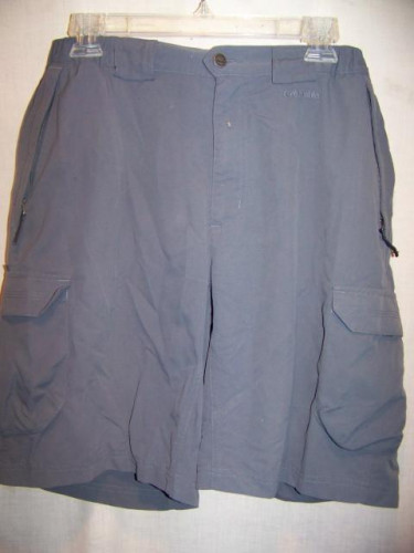Columbia Nylon Hiking Cargo Shorts, Mens Medium