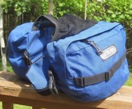 Outdoor products dog pack backpacking medium blue saddlebag