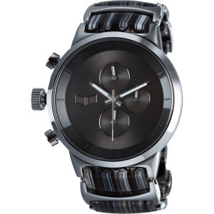 Metronome Watch Grey Stripes/Silver/Grey - Acetate, One Size - Like Ne