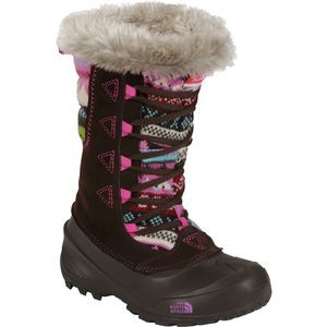 Shellista Lace Novelty II Boot - Girls' Demitasse Brown/Luminous Pink,