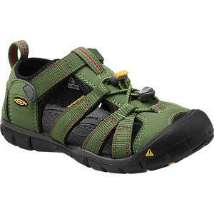Seacamp II CNX Sandal - Little Boys' Bronze Green/Chili Pepper, 9.0 -