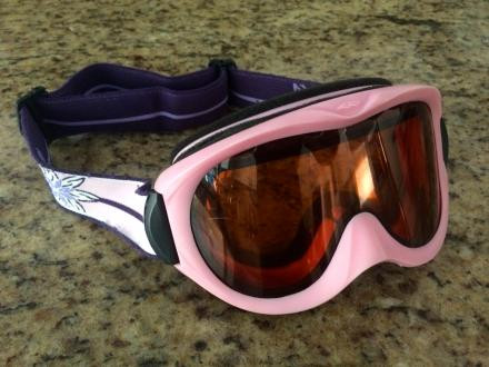 Smith childrens ski goggles, pink