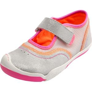 Emme Shoe - Little Girls' Silver/Pink, 9.0 - Excellent