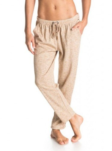 New Roxy Deep Swell Pants GOLDEN BROWN HEATHER L Large