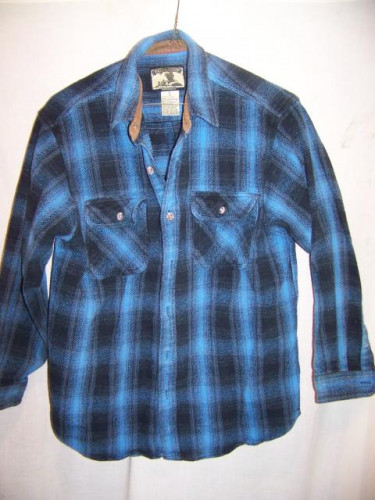 Field & Stream Heavy Flannel Cotton Shirt Large
