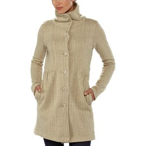 Better Sweater Fleece Coat - Women's Tinsmith Grid/Bleached Stone, M -