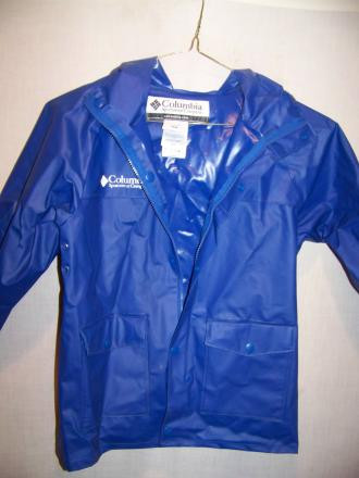 Columbia PVC Rain Jacket, Kids Medium