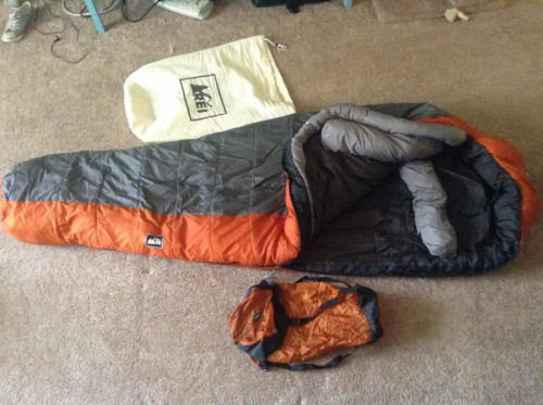 REI Polar Pod +10 sleeping bag regular men's