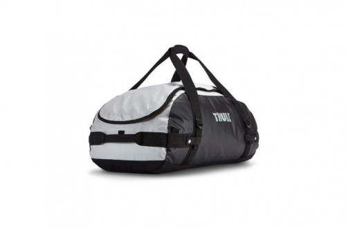 Thule Chasm Duffel Bag, Medium, White, with backpack straps