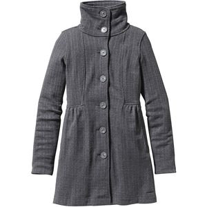 Better Sweater Fleece Coat - Women's Tinsmith Grid/Feather Grey, M - L
