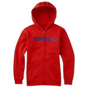 Logo Horizontal Full-Zip Hoodie - Boys' Fiery Red, M[10/12] - Good
