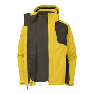 Atlas Triclimate Jacket - Men's Sulphur Yellow/Black Ink Green, M - Ex