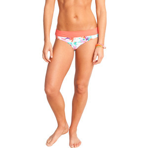 Catalina Bikini Bottom - Women's White Paradise/Hot Coral, L - Like Ne