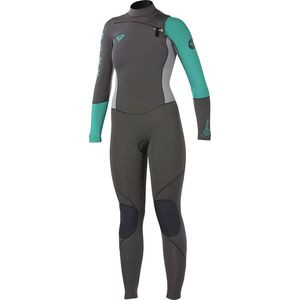 Cypher 4/3 ChestZip Fullsuit - Women's Graphite/Green, 8 - Good