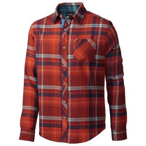 Anderson Flannel Shirt - Long-Sleeve - Men's Mahogany, M - Excellent