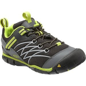 Chandler CNX Hiking Shoes - Little Boys' Raven/Bright Chartreuse, 9.0