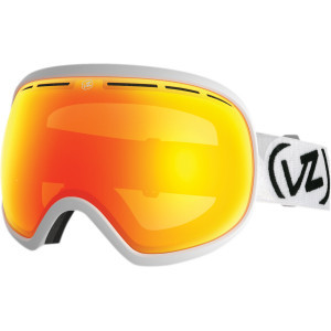 Fishbowl Goggles White Satin/Fire Chrome, One Size - Like Ne