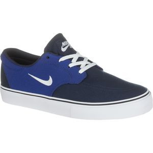 SB Clutch Skate Shoe - Boys' Obsidian/Deep Royal Blue/White, 7.0 - Exc