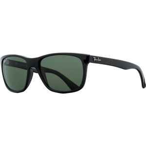 RB4181 Sunglasses - Polarized Black/Crystal Green, One Size - Excellen