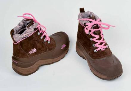 The North Face Chilkats Lace Boots Sz 5, Brn/Pink