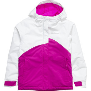 Crash Out Jacket - Girls' White Groovy Pink, M - Excellent