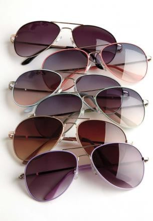 Jessica London Aviator Sunglasses Style# 40-3430-2