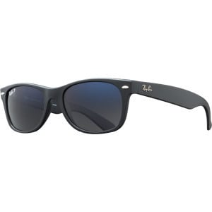 New Wayfarer Sunglasses - Polarized Matte Black/Crystal Grey Blue Mirr