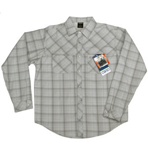 Whiskey River Hybrid Shirt - Long-Sleeve - Men's Fog, M - Excellent