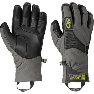 Lodestar Gloves Pewter/Black/Lemongrass, S - Like New