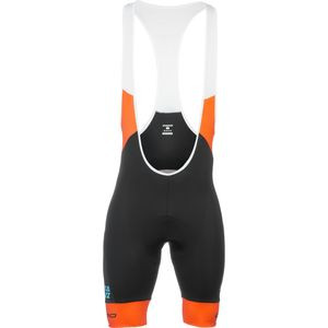 Stripes XC Bib Shorts - Men's Black/Orange, M - Ex