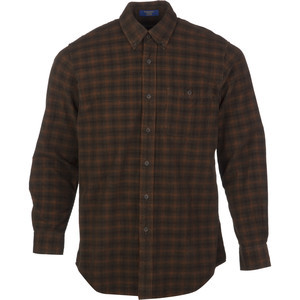 Wayne Fitted Shirt - Long-Sleeve - Men's Brown/Rust Windowpane, L - Ex